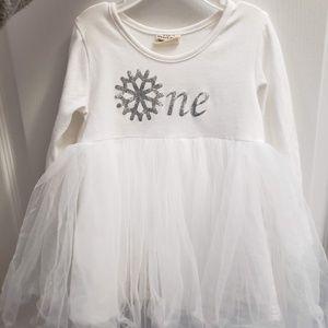 Other - Precious One snowflake tutu dress